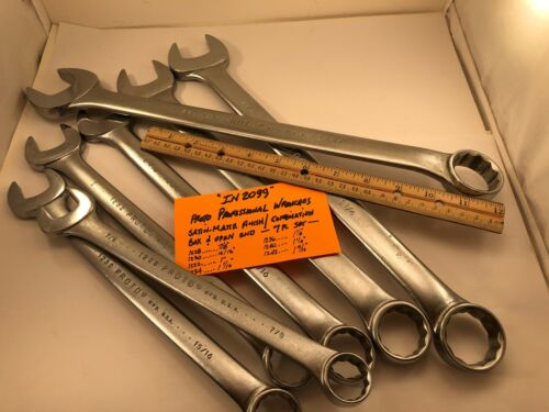 PROTO PROFESSIONAL Series Combination Wrench Set 7pc SAE Satin Finish   IN2099