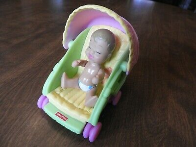 Fisher Price My First Dollhouse BABY STROLLER (2006) and Baby