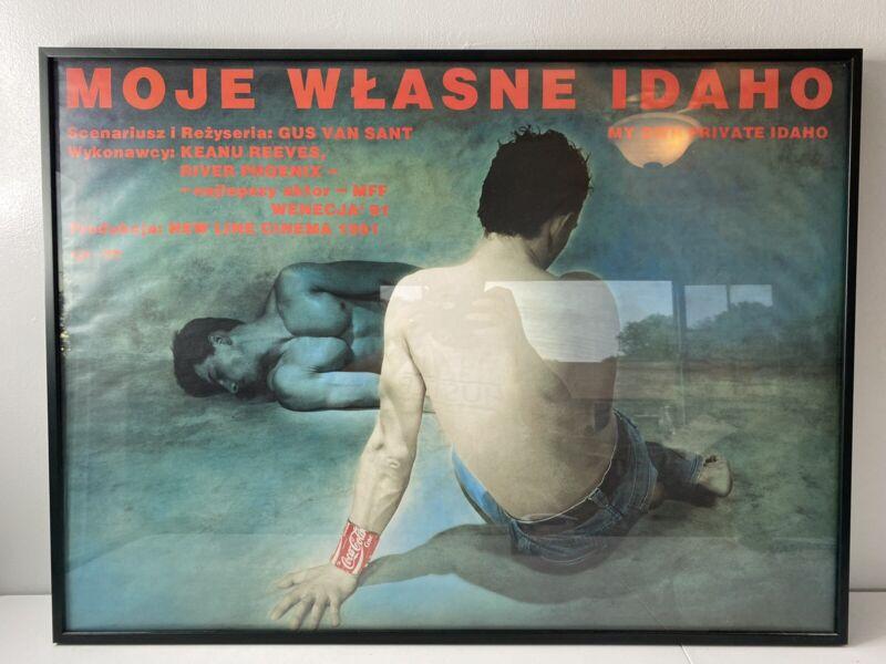 "MY OWN PRIVATE IDAHO 1992 Polish 26""x38"" River Phoenix Gus Van Sant Keanu Reeves"