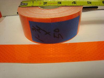 Neon Orange Reflective  Conspicuity Tape 1-34 X 50 Feet  Nl