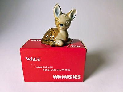 1970's WADE WHIMSIES Fawn #1 With Original Red England Box