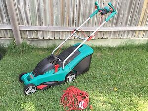 Bosch Rotak 34 electric mower Coorparoo Brisbane South East Preview