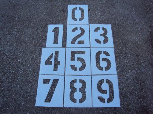 "12"" x 8"" Parking Lot Number Stencils. Bigger Edge Distances. 1/16"", 60 Mil LDPE"