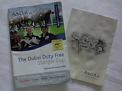 Ascot Race Programme The Dubai Duty Free Shergar Cup Aug 2008