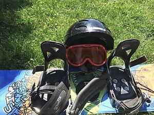 Kids snow board and accessories