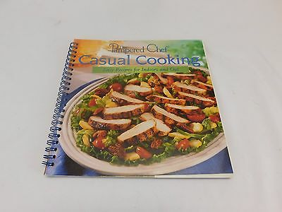 Pampered Chef Casual Cooking Cook Book 128 Pages Grilling Indoor Outdoor Cooking