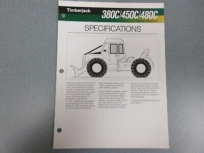Timberjack 380c 450c 480c Skidders Sales Brochure 6 Pages