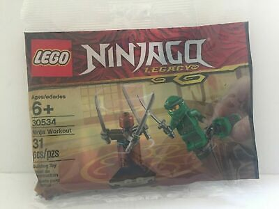 New Ninjago Legacy Green Ninja Lloyd Ninja Workout Lego Set Polybag