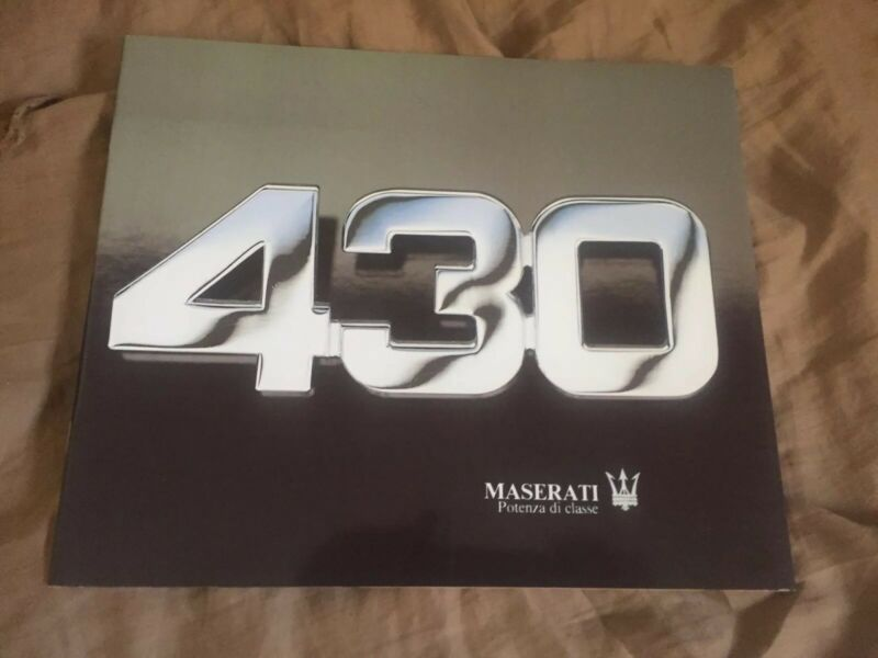 1988 Maserati Biturbo 430 Glossy Color Brochure Catalogue Prospekt