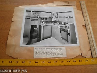 1960s Chris-Craft 40' Princess stove kitchen yacht advertising photo w/articles