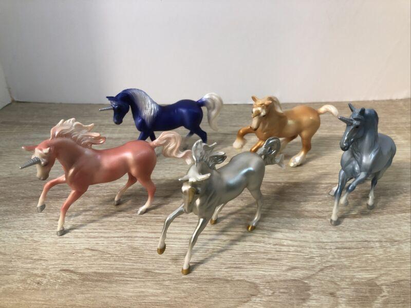 Breyer Stablemate Unicorn Crazy Surprise SERIES 4 Lot Of 5 Unicorns New Open Bag