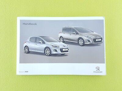 PEUGEOT 308 & 308 SW Facelift (2011 - 2013) Owners Manual / Handbook