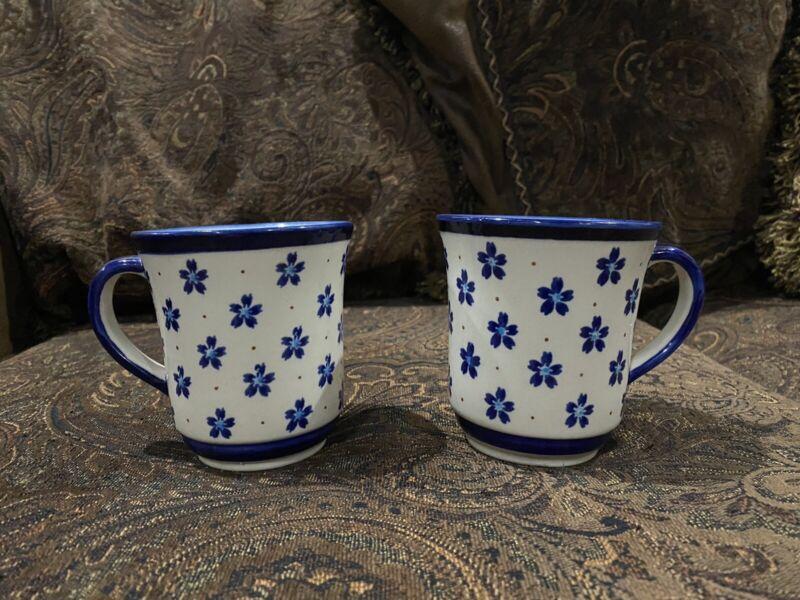 Boleslawiec Polish Pottery - 2 Coffee Mugs