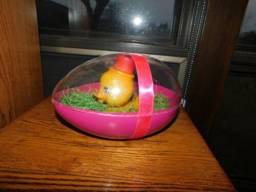 Easter Duck in Big Plastic Egg Vintage Creative Creations Newark NJ