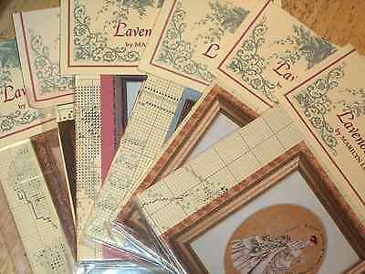 Lavender & Lace ASSORTED Cross Stitch Patterns Some with Beads/Kreinik U (Bead Stitch Patterns)