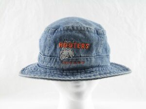 20f02ad03c4 Hooters Bucket Hat Vintage Hooters Chicago Floppy Hat Hooters Denim Bucket  Hat