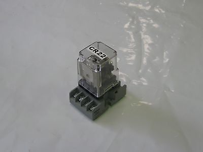 Potter & Brumfield Relay w/ Base, KRPA-11DG-24, 27E891, Used, Warranty