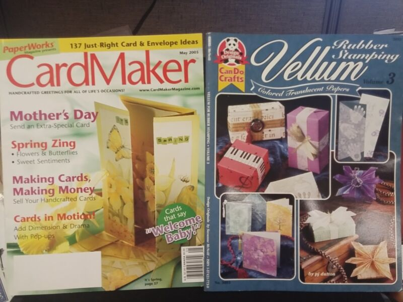 PaperWorks Magazine May 2005 Rubber Stamping Vellum Vol. 3 Color Translucent