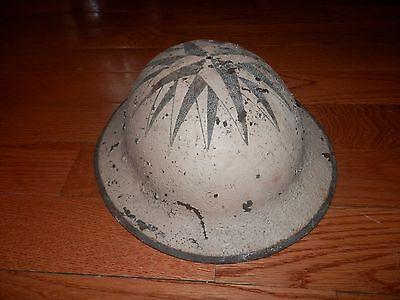 Original WW 1  Doughboy Helmet, no liner old repaint civil air defense ?