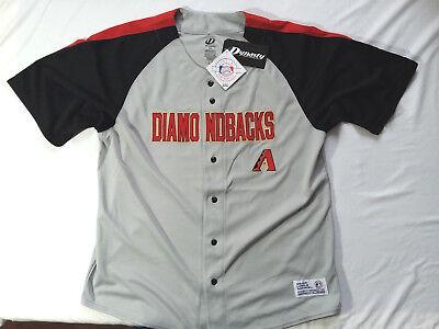 Dynasty Arizona Diamondbacks Gray Red Black Stitched Baseball Jersey Sz XL
