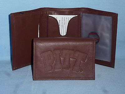 PITTSBURGH Pitt PANTHERS  Leather TriFold Wallet  NEW dark brown m ()