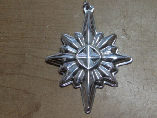 Read And Barton Sterling 1978 Christmas Star Ornament