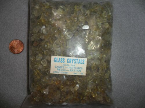 Vintage Crushed Moss Green Glass Crystals