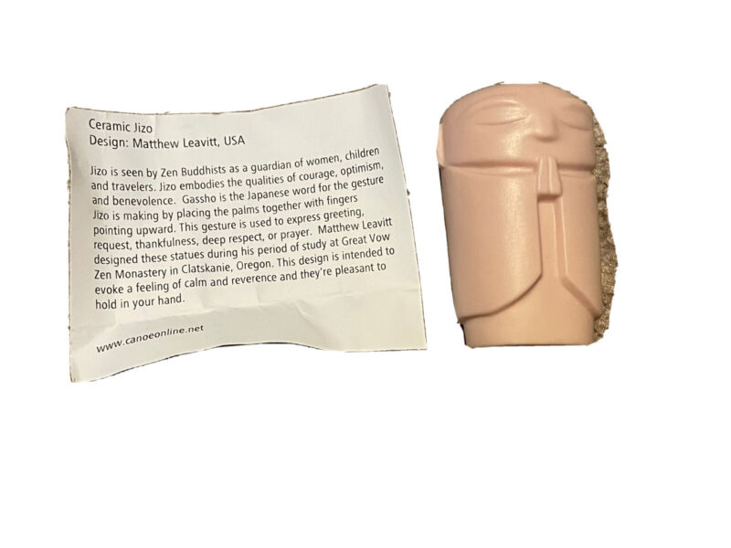 Handmade Ceramic JIZO Signed And Dated Matthew Leavitt USA Portland Oregon 47/54