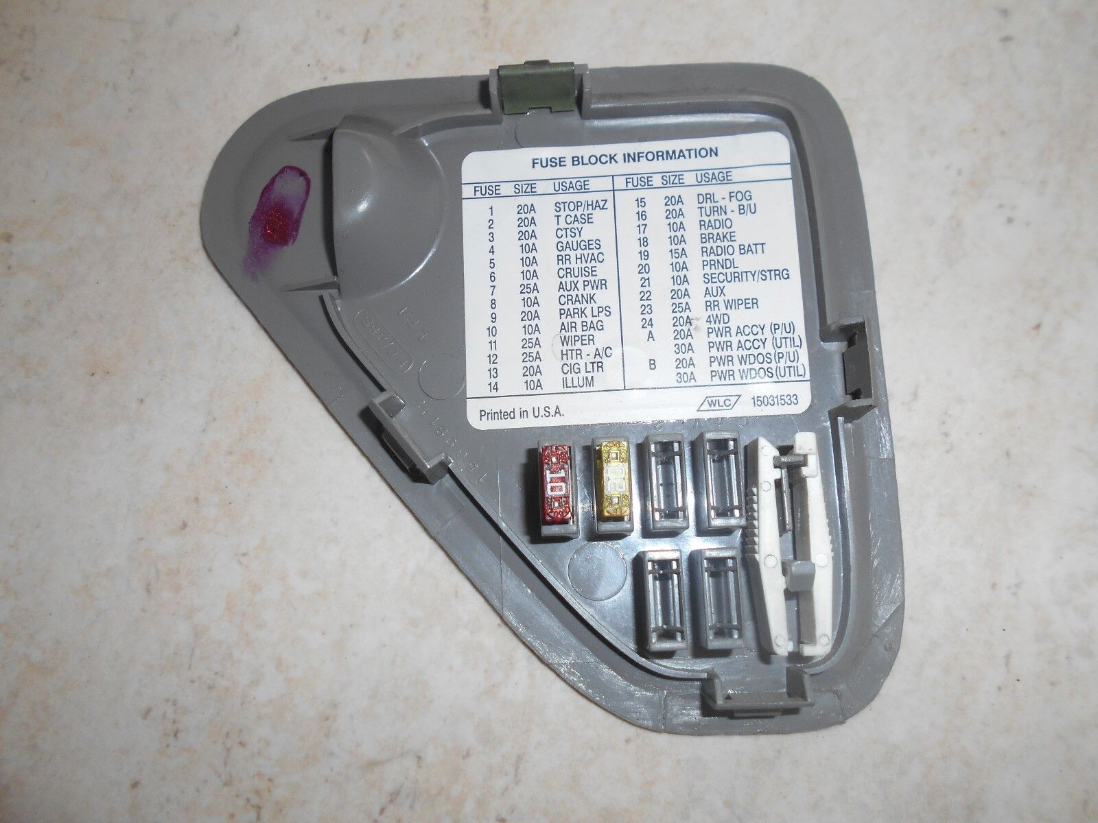 Used 1998 Chevrolet Tahoe Interior Door Panels And Parts For Sale 98 Chevy Fuse Box 1995 1999 Gmc Ck Truck Yukon Suburban Panel Cover Gray Color