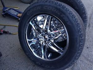 "20"" Chrome wheels - 6x139.7 with tires"