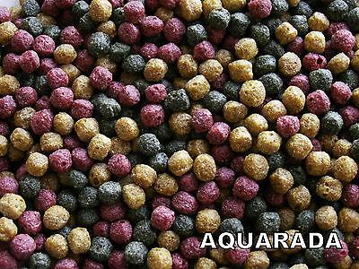 utter Granulat bunt 6mm 5-Sorten Koi Goldfisch Teich (Bunte Goldfische)