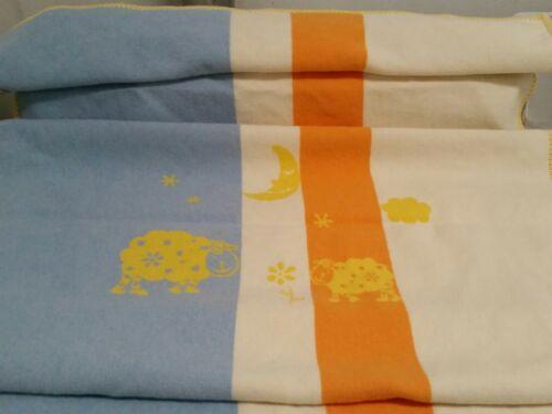 David Fussenegger Baby Blanket Reversible Bright Colors Austria Cotton - $18.93