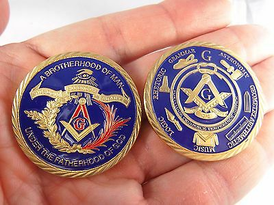 Masonic Freemason Brotherhood of Man under the Fatherhood of God Challenge Coin