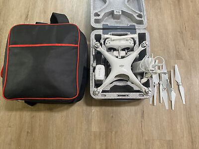 Lightly adapted to DJI Phantom 4 pro Body, Drone w/ Case, Backpack, Bundle READ