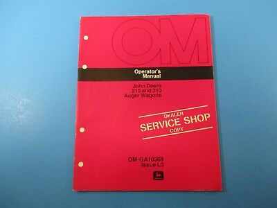 John Deere Operators Manual Om-ga10369 210 And 310 Auger Wagons Issue L3 M5174
