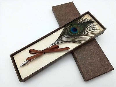 Potters Pen (Peacock Feather Pen, Harry Potter Calligraphy Quill Pen, Wedding Guess Book)
