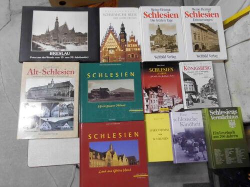 12 Bücher über Schlesien schlesisches Bücherpaket, Breslau Namslau Alt-Schlesien