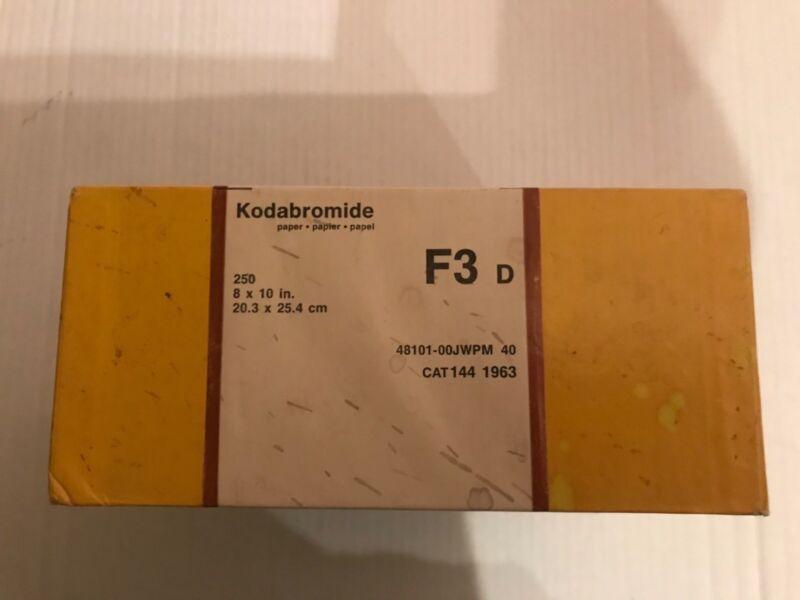 Vintage Kodak Bromide Photo Paper. 250 Sheets 8 X 10 F-3D Double Weight .