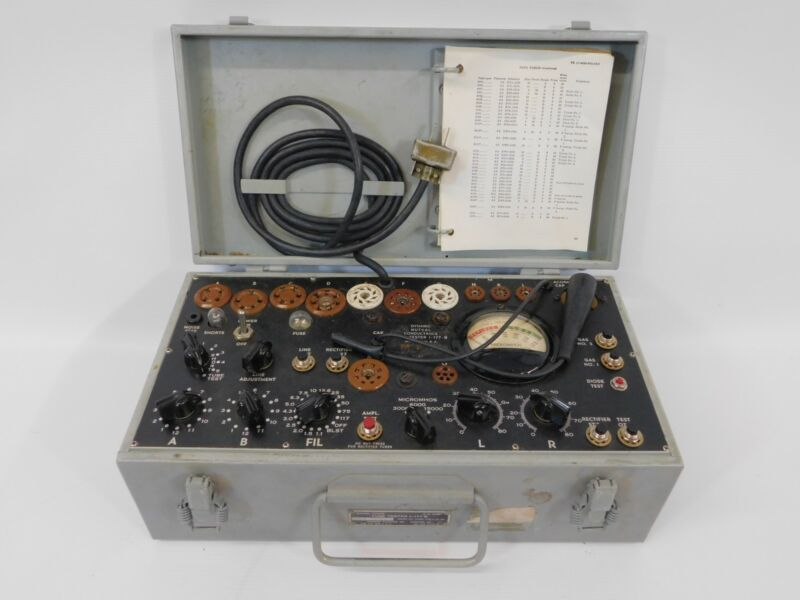 Simpson I-177B Vintage Military Mutual Conductance Tube Tester (fair condition)