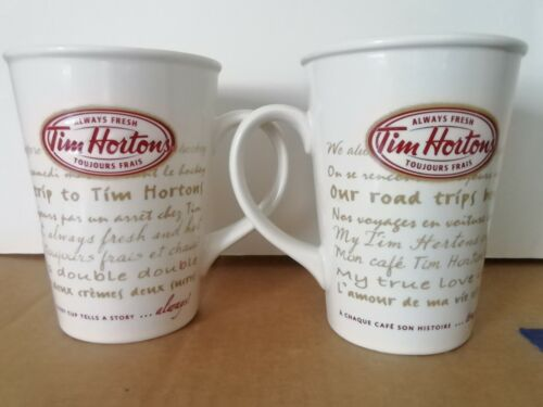 "2 of Tim Hortons Limited Edition Coffee Mug Collector Series #/N 009 "" RARE """
