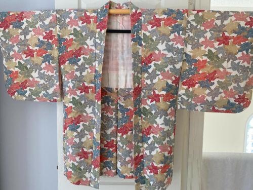 Vintage Japanese Silk Happi Coat Haori