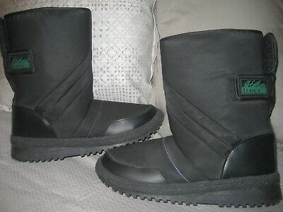 (New ITASCA Womens US 9/10 Black Snow Boots Mid Calf Waterproof )