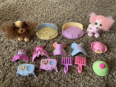 Fisher Price Snap n' Style Pets Cheri, Coco & Accessories!! Great Condition!