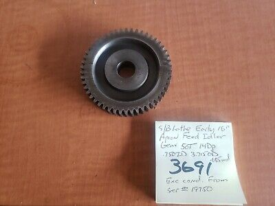 Southbend Lathe Early 1516 Apron Feed Idler Gear 50t 14dp.750id