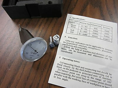 0.03 X 0.0005 Vertical Dial Test Indicator-large Face 2 Pcs W. Accessories-new