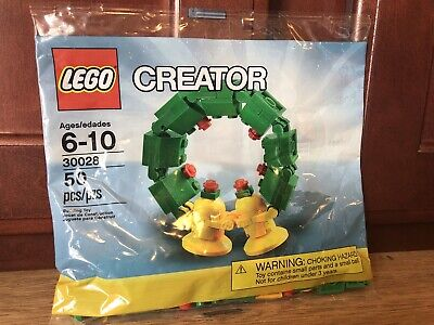 LEGO Creator 30028 Christmas Holiday Wreath 50 Pieces NEW IN POLYBAG RARE