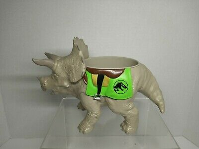 Jurassic World Park Live Tour Triceratops Hard Rubber bowl/large cup