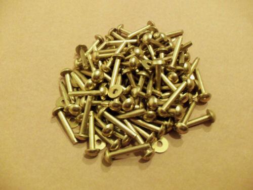"""Soild Brass Round Head Rivets & Burrs 1"""" 9 gauge SCA (1 Pound)"""