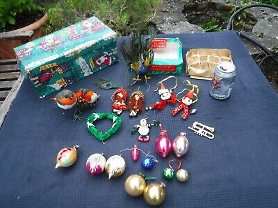Large Mixed Lot of Vintage Christmas Tree Baubles & Ornaments