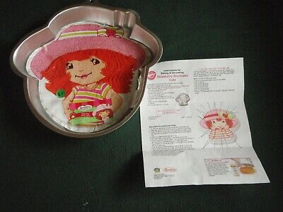 STRAWBERRY SHORTCAKE Wilton CAKE PAN w/ INSTRUCTIONS / Insert  #2105-7050